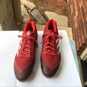 New Adidas Red Burgundy Football Cleats Men 14